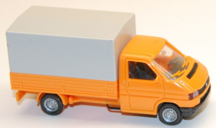 298//1 - VW T4 Pritsche mit Plane Wiking orange T@P